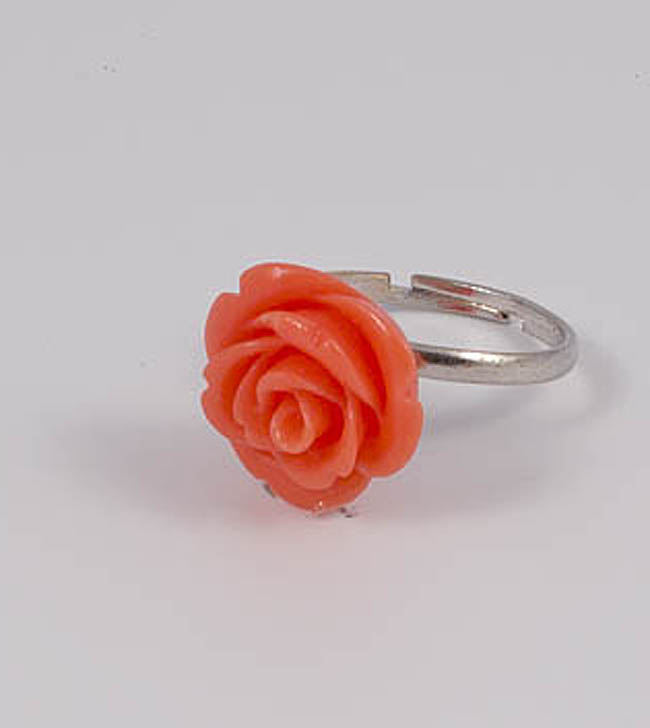 Кольцо с кораллом. 496302КП